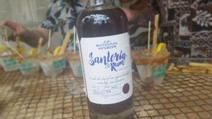 The latest bottling of Santeria Rum, featuring a new white label, was spotted at The Hukilau 2016. (Photo by Hurricane Hayward)