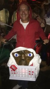A grown-up Elliott and E.T. finished fifth in the costume contest.