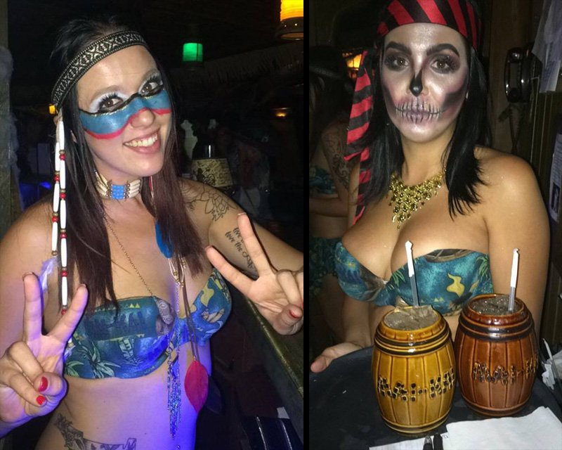 The Molokai girls stayed in character for Hulaween 2016.