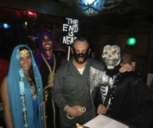 Costumed revelers came from far and wide.