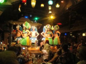 The Mai-Kai's Polynesian Islander Revue, shown performing during the Saturday night main event at The Hukilau 2016, is always a highlight of the world's most authentic Tiki event. (Atomic Grog photo)