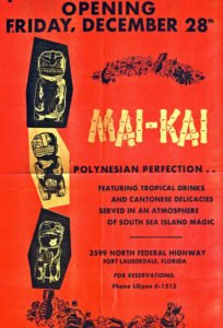 The Mai-Kai's opening day ad. (Provided by Sven Kirsten)
