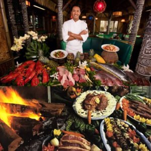 Chef Mark Rivera and some of his current creations. (Mai-Kai photo)