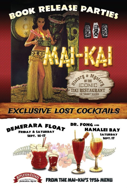 """""""Mai-Kai: History and Mystery of the Iconic Tiki Restaurant"""" release party menu"""