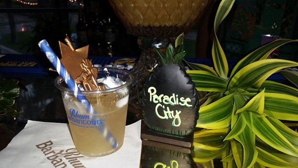 Paradise City, one of several complimentary cocktails at the Rhum Barbancourt bar. (Photo by The Atomic Grog)