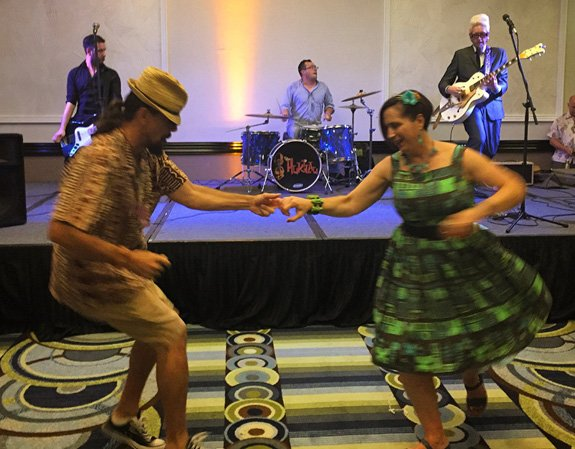 Dancers cut a rug while Jason Lee and the Black Tides kick out the jams. (Photo by Kevin Upthegrove)