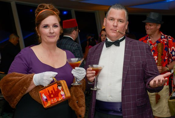Martinis in hand, Kim DeGarmo and Scott Deeter are ready for the soirée but seem a little annoyed at the photographer.  (Photo by Go11Events.com)