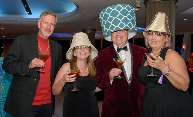 Lampshades (a Shag staple) are a popular headwear accessory. (Photos by Go11Events.com)