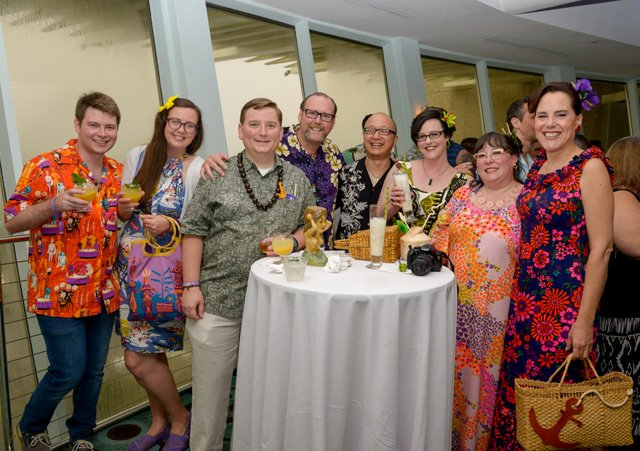 Despite the stormy weather outside, it was a Tiki cocktail paradise inside the Pier Top Lounge. (Photo by Go11Events.com)