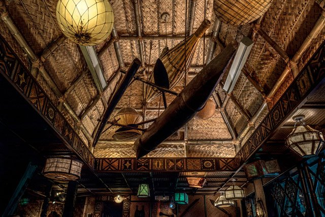 "The Mai-Kai's Moorea dining room. (Photo from Tim ""Swanky"" Glazner  / Mai-Kai: History and Mystery of the Iconic Tiki Restaurant)"