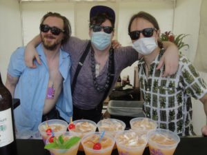 The crew from Slowly Shirley at last year's pool party. (Atomic Grog photo)