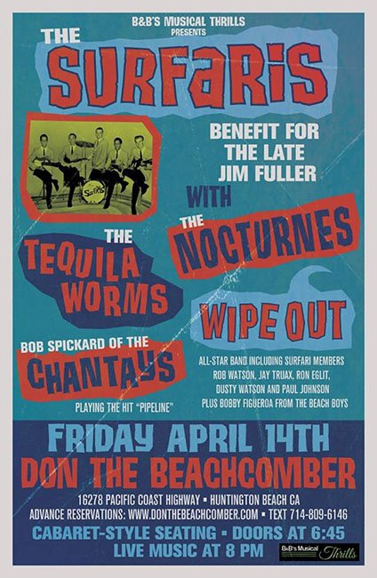 The Surfaris benefit concert