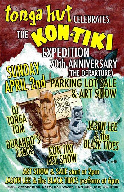Tonga Hut Parking Lot Sale & Art Show