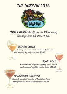 "The Mai-Kai's ""lost cocktails"" menu at The Hukilau 2016"