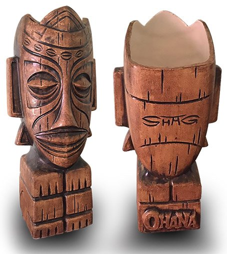 Ohana: Luau at the Lake 2017 event mug, designed by Shag and sculpted by Squid