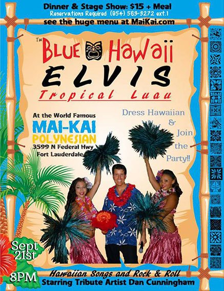 Blue Hawaii Elvis at The Mai-Kai