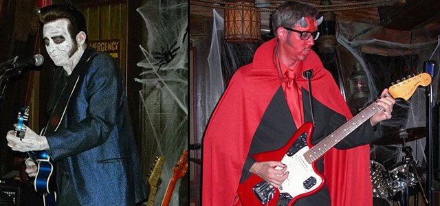 Hulaween 2014 - Slip and the Spinouts; 2013 - Skinny Jimmy Stingray