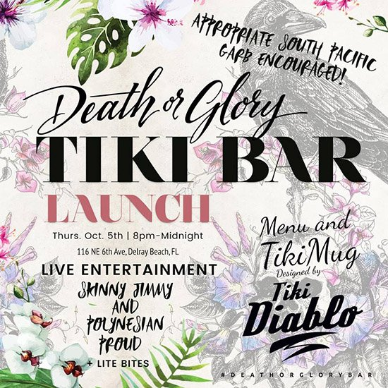 Death or Glory's Tiki bar launch