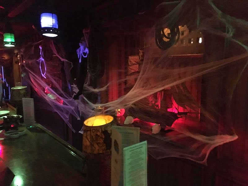 The Molokai bar is all decked out for Hulaween