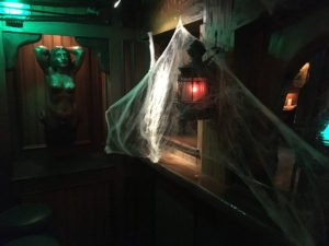 Cobwebs fill every corner of The Molokai bar.