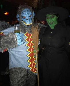 The Evil Monkey and Wicked Witch from Wizard of Oz swoop in to take the top prize