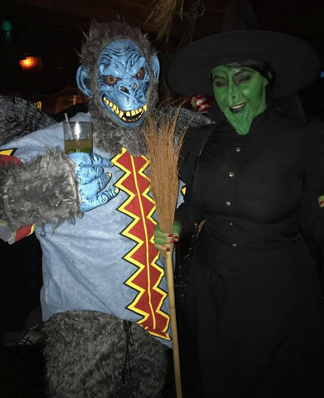 "The Evil Monkey and Wicked Witch from Wizard of Oz swoop in to take the top prize. You may remember them from past Hulaween parties as the ""Beetlejuice"" couple."