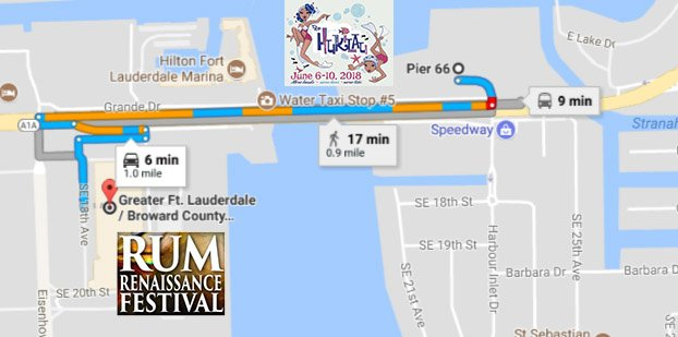 Map: Rum Renaissance Festival and The Hukilau