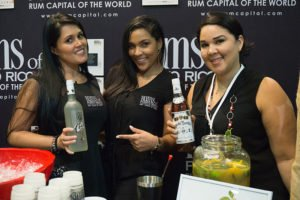 Rums of Puerto Rico representatives at the 2017 Rum Renaissance Festival in Miami. (Atomic Grog photo)