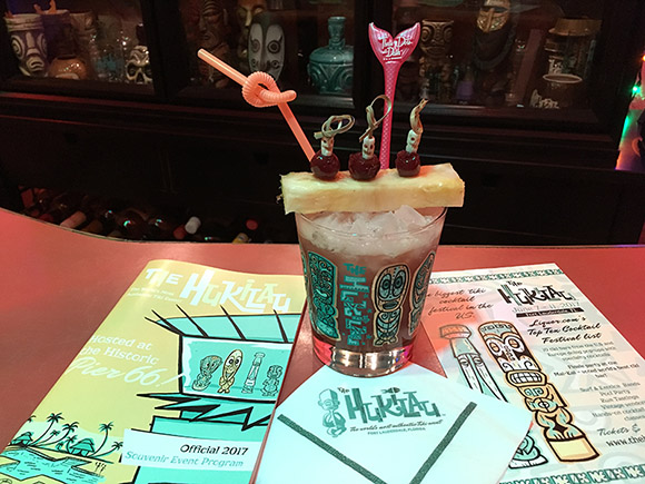 Three Dots and a Dash from the Tiki Tower Takeover is re-created in The Atomic Grog, January 2018. (Photo by Hurricane Hayward)