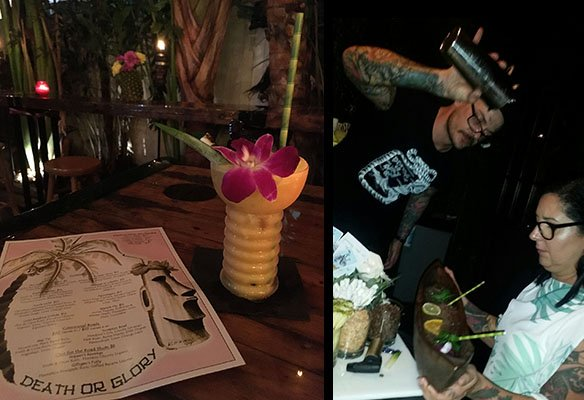 Death or Glory and former Kreepy Tiki owner Ayme Harrison (right) lauched a new Tiki bar in October. (Atomic Grog photos)