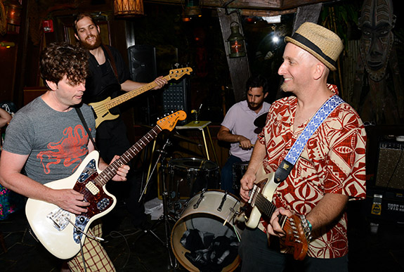 You never know who will show up to jam at Wednesday's pre-party in The Molokai bar at The Mai-Kai. In 2016, Gary Evans of The Intoxicators jumped in with Russell Mofsky and Gold Dust Lounge. (Photo by Go11Events.com)