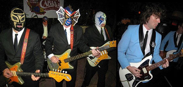 Party like it's 2009: Los Straitjackets (left) will headline The Hukilau for a second time, while The Intoxicators will make their 13th appearance at the Tiki party in Fort Lauderdale. (Photos from The Hukilau 2009)