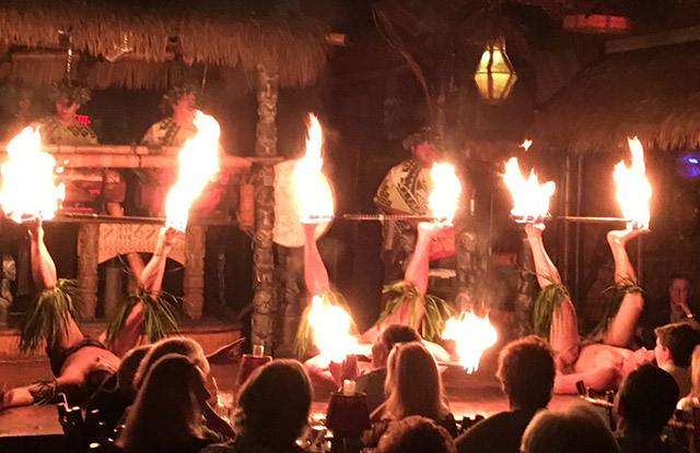 Members of The Mai-Kai's Polynesian Islander Revue, the longest-running authentic South Seas stage show in the United States, perform in February 2017. (Atomic Grog photo)