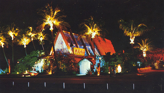 A postcard from 1956, the year The Mai-Kai opened. (Courtesy of Mai-Kai: History and Mystery of the Iconic Tiki Restaurant)