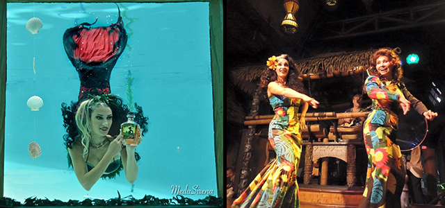 At The Hukilau 2016, Medusirena performs at The Wreck Bar with her mermaid friends, and dances at The Mai-Kai with legendary Polynesian performer Nani Maka. (Photos provided by Medusirena)