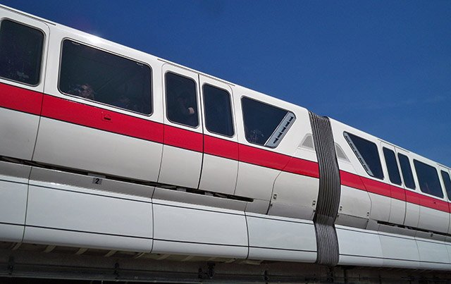 The current Walt Disney World monorail fleet, known as the Mark VI design, has been in service since 1989. (Photo by Hurricane Hayward, February 2013)
