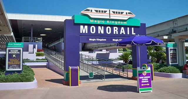The Walt Disney World monorail has run from the Magic Kingdom transportation center to the theme park since it opened in 1971. (Photo by Hurricane Hayward, October 2011)