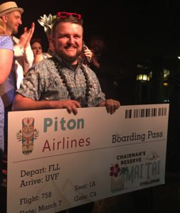 Florida's Gregory Schutt's victory at The Mai-Kai on Oct. 30 won him a ticket to the finals of the Chairman's Reserve Mai Tai Challenge in St. Lucia in 2019. (Atomic Grog photo)