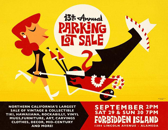 13th annual Parking Lot Sale at Forbidden Island