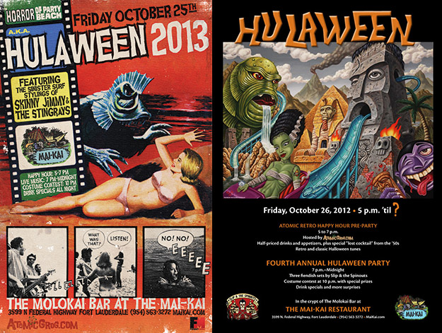 Hulaween posters: 2013 and 2012