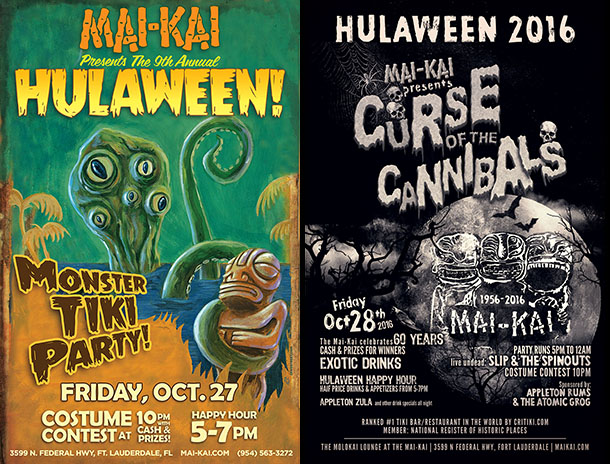Hulaween posters: 2017 and 2016