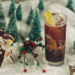 Run Run Rudolph (Prosecco, gin, mulled wine puree, lemon). (Photo courtesy of Miracle)