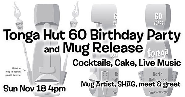 Tonga Hut 60th Birthday Party & Mug Release