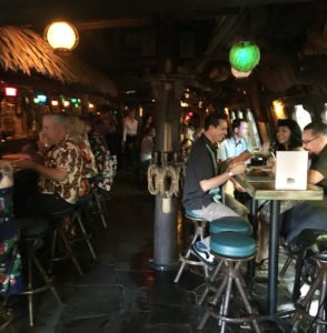 Despite the early hour, there was a full house in The Molokai bar