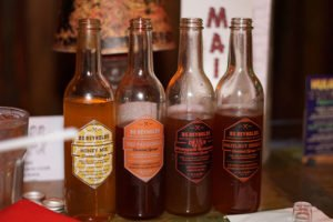 New BG Reynolds syrups are sampled at The Mai-Kai in October 2018. (Atomic Grog photo)