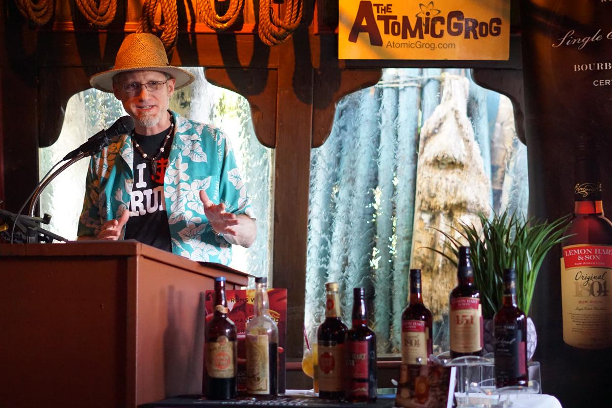 Hurricane Hayward talks about the history of Lemon Hart and Demerara rum at The Mai-Kai