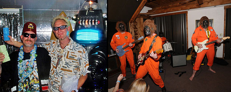 Flashback: During The Hukilau 2010 room crawl, the artist Shag visits Robotiki's Planet of Forbidden Tiki while the Disasternauts perform in the Go11 Spaceport at the Bahia Cabana on Fort Lauderdale Beach (RIP). Click photo for a recap and gallery.