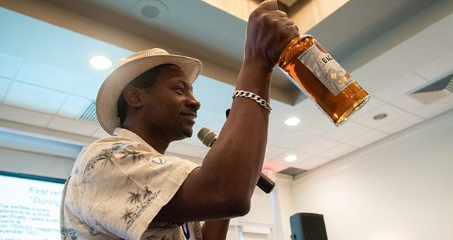Global rum ambassadorIan Burrell presents a symposium on his favorite spirit. (Photo by Chris Kridler)