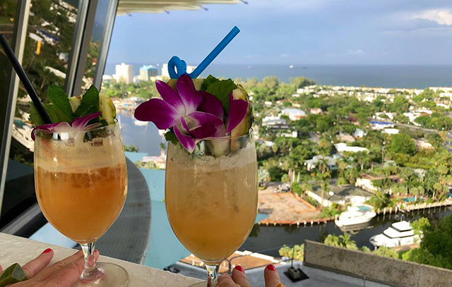 You can't beat the view, or the cocktails, in the penthouse ballroom at Pier 66. (Photo by Joanne Galka)