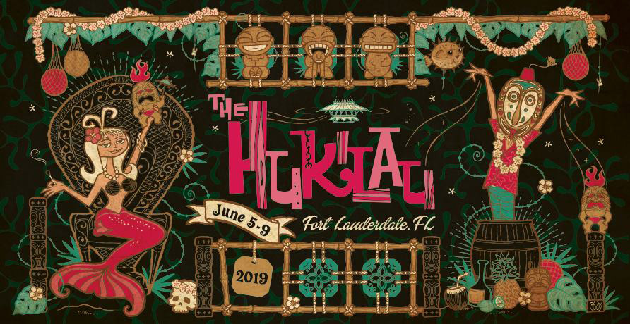 The Hukilau 2019 official artwork by Baï, an artist based in Paris